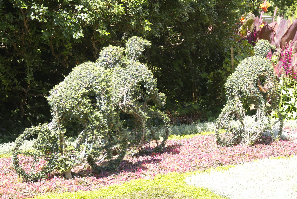 Cyclists Topiary