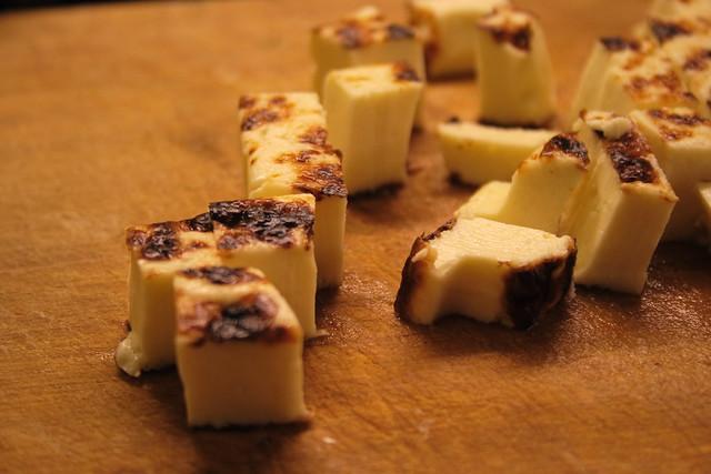 Tacos de queso-pan: leipäjuusto