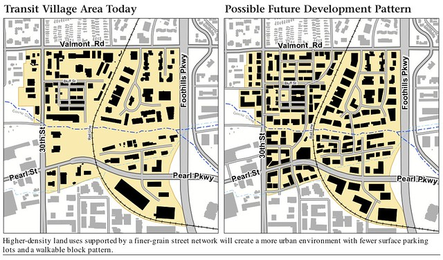Boulder Transit Village Before and After