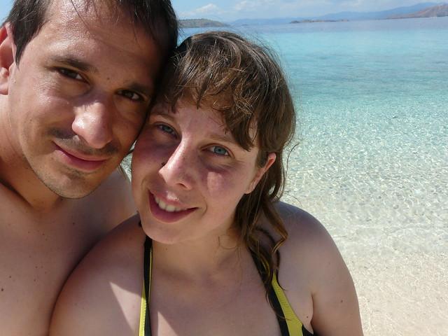 Rebeca y Sele en la playa