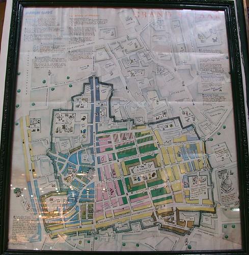 Fedett Bazár térképe