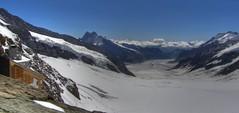 View over Aletschgletscher