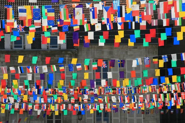 Flags in Gannat