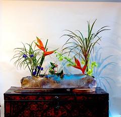Linda's Ikebana in Container Created at Dragon Kiln
