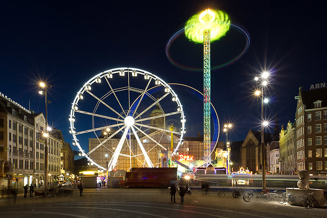 Netherlands amsterdam dam square amusement park for Amusement park netherlands