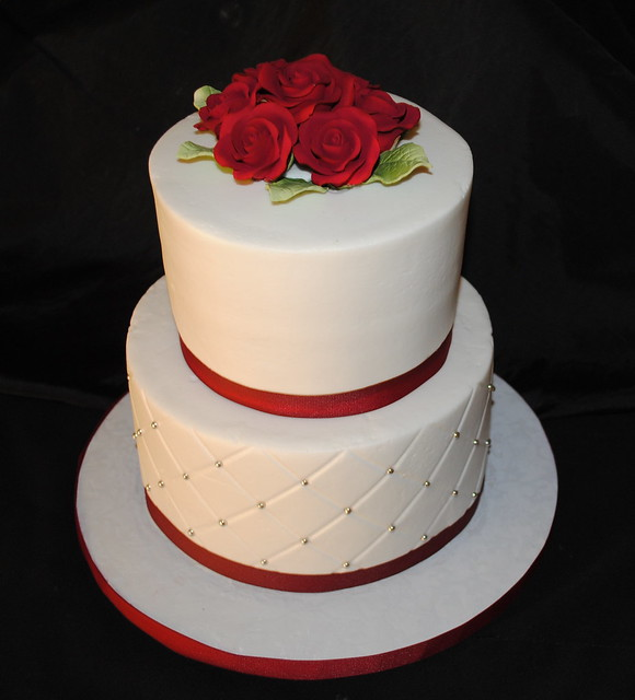 Simple Wedding Cakes: Just A Simple Wedding Cake. Iced In