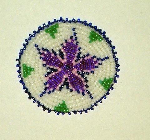 beaded rosette purple flickr photo