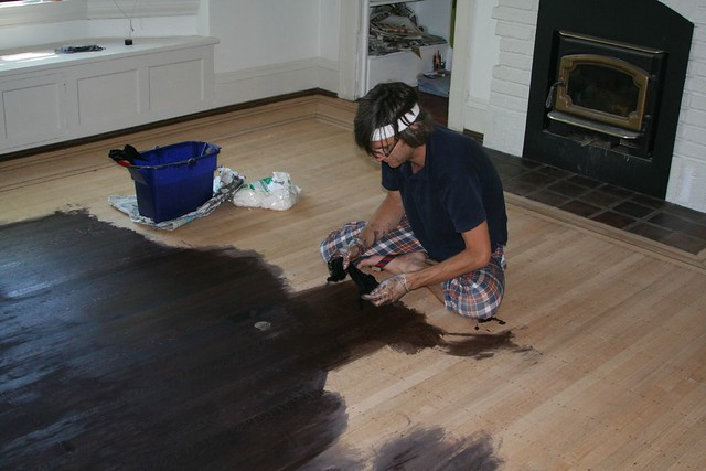 Ebony stained floors