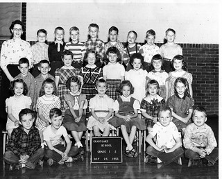 Mary Ann Hayes' Class Photograph, Grayslake School Grade 1-2, October 25 1955 (Grayslake, Illinois)