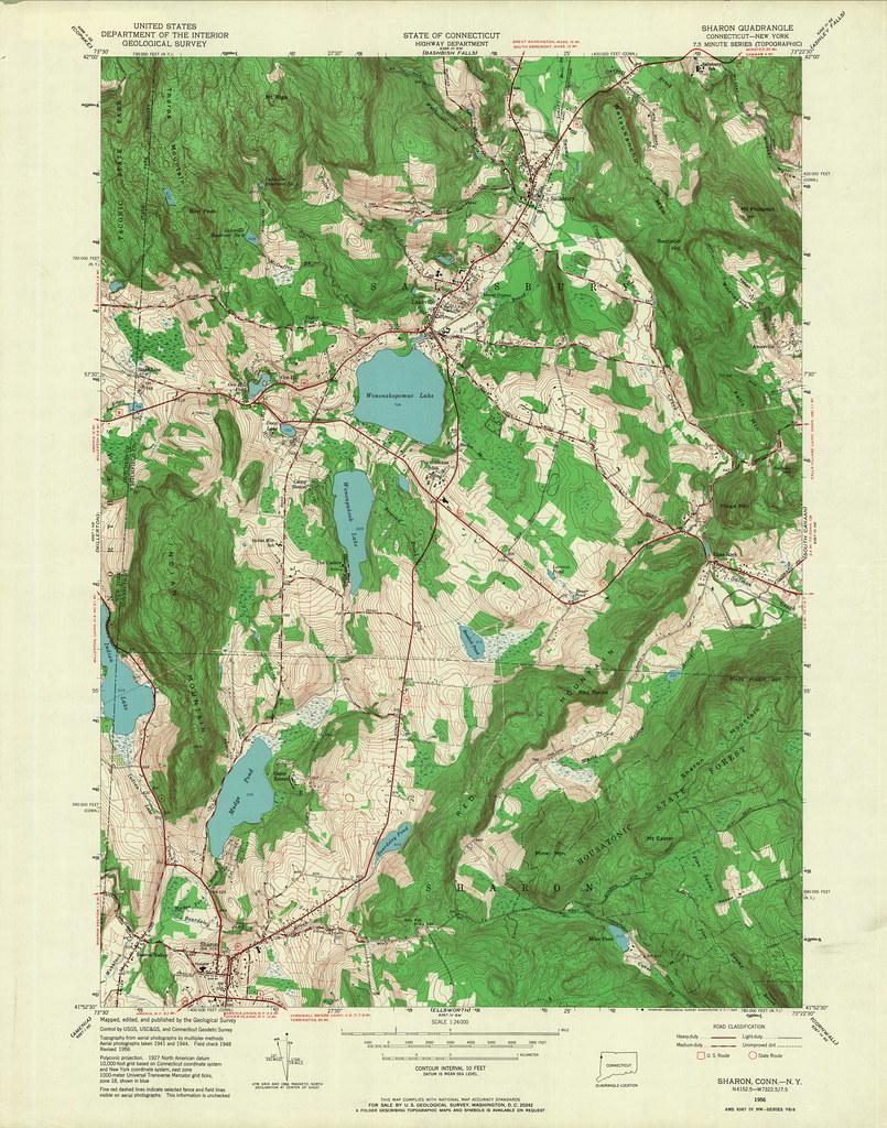 Sharon Quadrangle 1956 - USGS Topographic Map 1:24,000 | Flickr