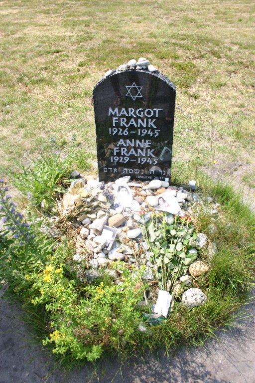 anne amp margot frank s grave at bergen belsen   a photo on