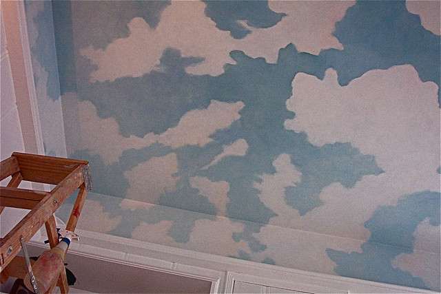 Cloud murals a gallery on flickr for Ceiling cloud mural