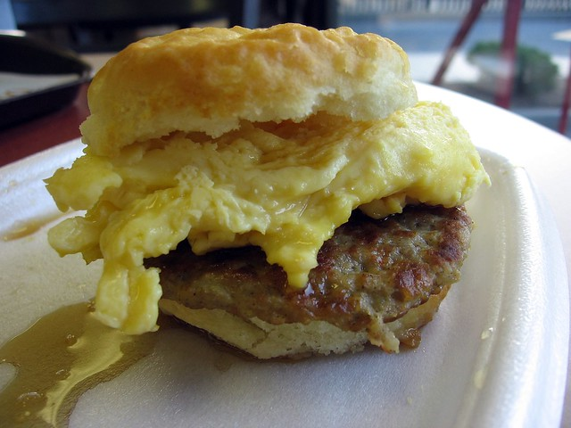 Biscuit, Egg and Sausage Sandwich 1 | Flickr - Photo Sharing!