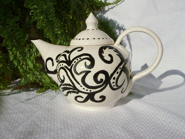 Black And White Teapot 1 Flickr Photo Sharing