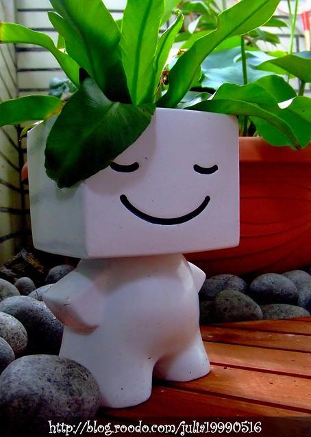 微笑小白人.绿色的头毛狠q呗!