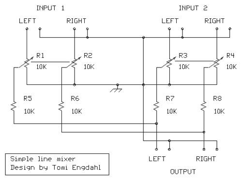 Audio Schematics - Mixer Circuits
