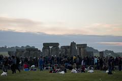 Stonehenge Summer Solstice 2010 - The Sun Rises Behind the Stone Circle