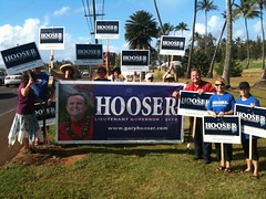Great Turnout For Sign Holding on Kauai Father's Day Weekend!