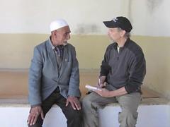 Dr. Tom McCarthy interviews local villager