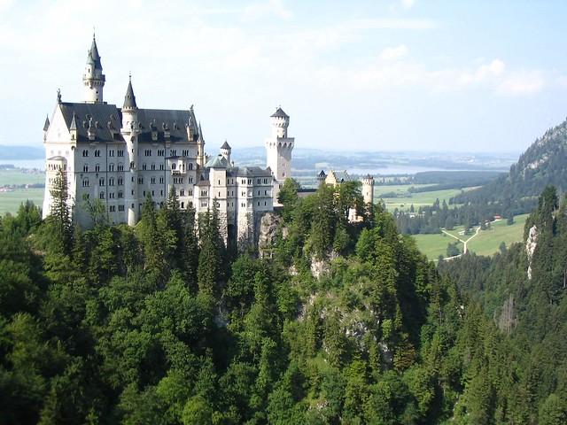 El Castillo de Neuschwanstein en Baviera, Alemania