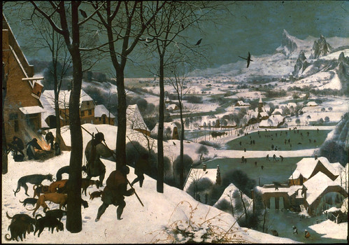 "brueghel, ""hunters in the snow"" by quedefeuilles"