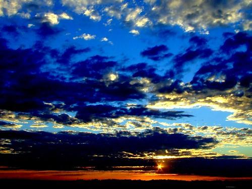 sunset canada clouds rural landscape country prairie saskatchewan