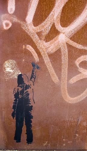 "Graffiti In Dunlaoghaire (""Gateway"" by Michael Warren"") by infomatique"