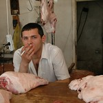 Butcher on a Smoke Break - Yerevan, Armenia