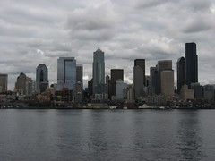 Downtown Seattle, Washington from Bremerton-Seattle Ferry, Seattle, Washington