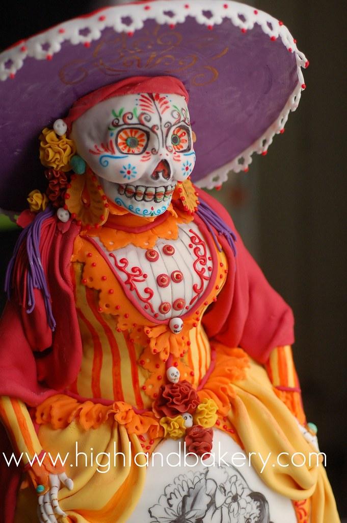 Dio De Los Muertos Cake