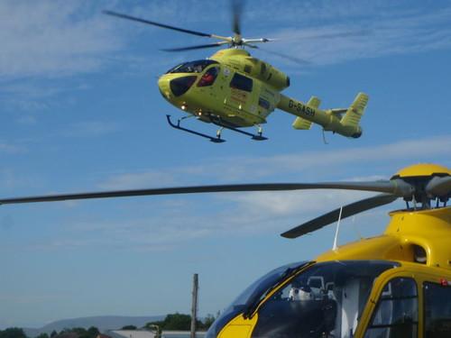 Yorkshire Air Ambulance Landing