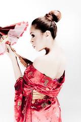bride(0.0), dress(0.0), geisha(1.0), hairstyle(1.0), model(1.0), clothing(1.0), maroon(1.0), woman(1.0), fashion(1.0), female(1.0), satin(1.0), photo shoot(1.0), lady(1.0), costume(1.0), person(1.0), pink(1.0),
