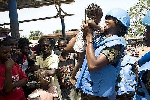 Ghana Female Soldier