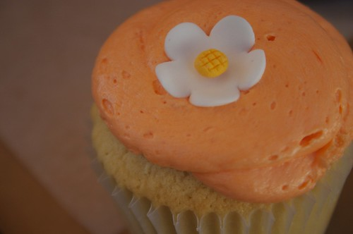 creamsicle meets orange sherbet in a cupcake!