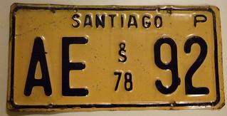 1978 Santiago CHILE Privado (passenger) 1978