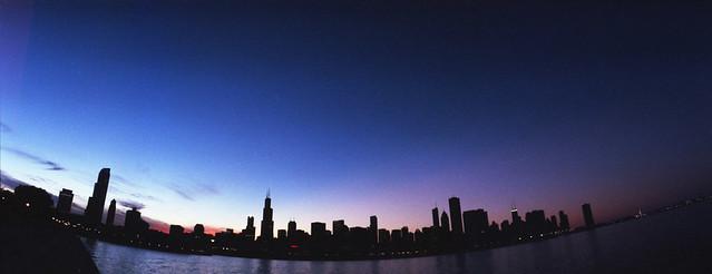 Atarecer en Chicago