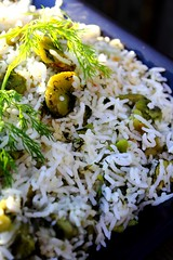 Baghali polo - Persian dill green fava bean rice