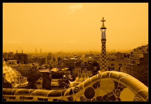 Barcelona from park Güell.-