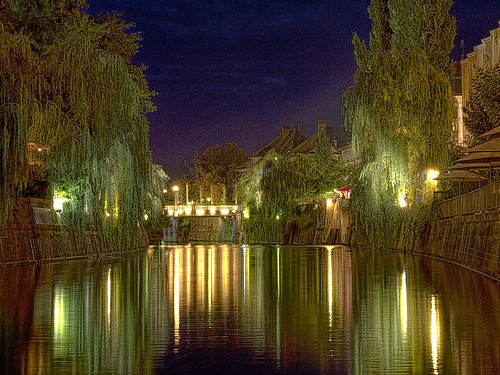 night river canal martin olympus ps impressionism ljubljana nightscene processed lucis 10faves e400 platinumphoto anawesomeshot diamondclassphotographer superhearts