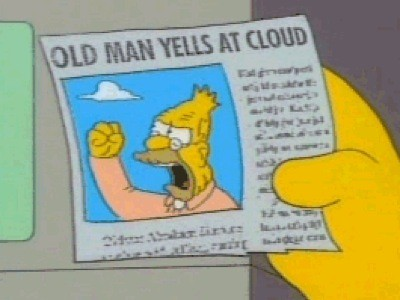 old man and cloud