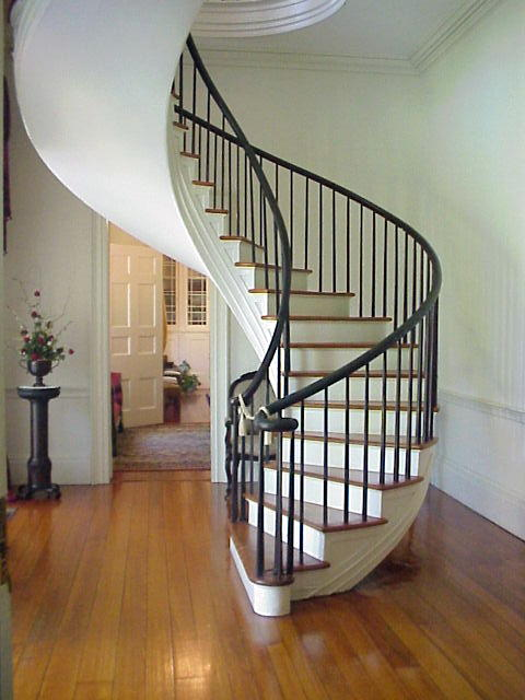 Foyer With Spiral Staircase : The famous spiral staircase in foyer at auburn a