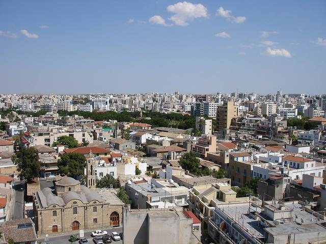 partial view of Nicosia by CC user 67608533@N00 on Flickr