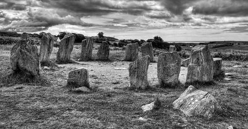 Drombeg Stone Circle HDR B+W
