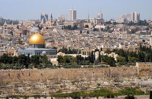 Gerusalemme vista dal Monte degli Ulivi