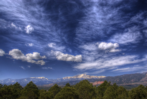 blue trees sky mountain snow nature clouds landscape photo colorado explore coloradosprings rockymountains pikespeak airforceacademy 201004