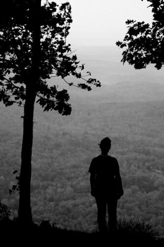 blackandwhite mountains girl sunrise georgia lonely silhoutte