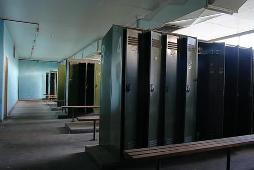Abandoned locker room