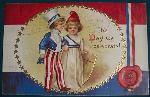 Vintage Fourth of July Postcard