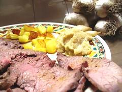 roast beef ai 100 spicchi : nel piatto