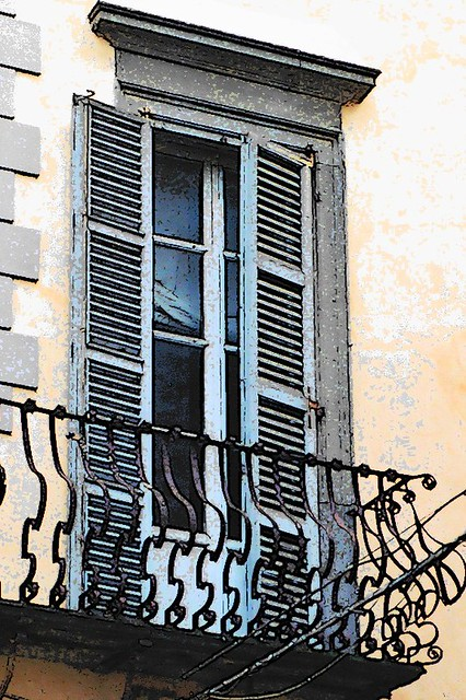 Orvieto balcony cartoon flickr photo sharing for Balcony cartoon